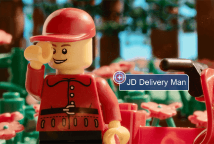 "JD.com Deliveryman Plays Hero in a New LEGO ""Micro Movie"